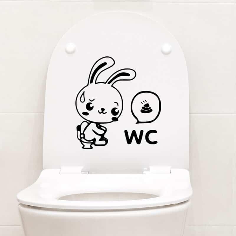 nalepka za wc zajček