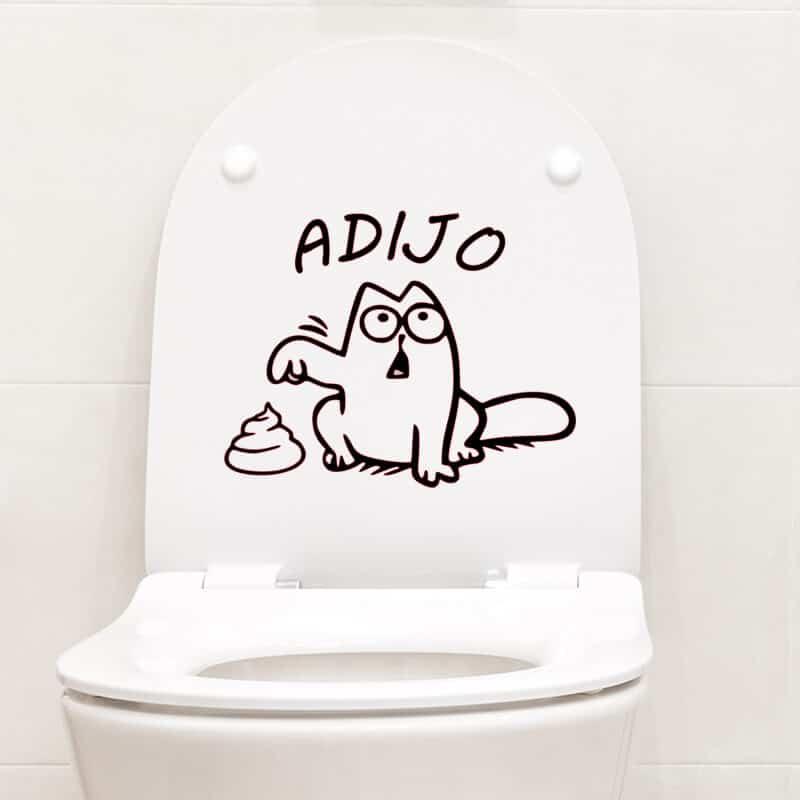 nalepke za wc pokrov muca