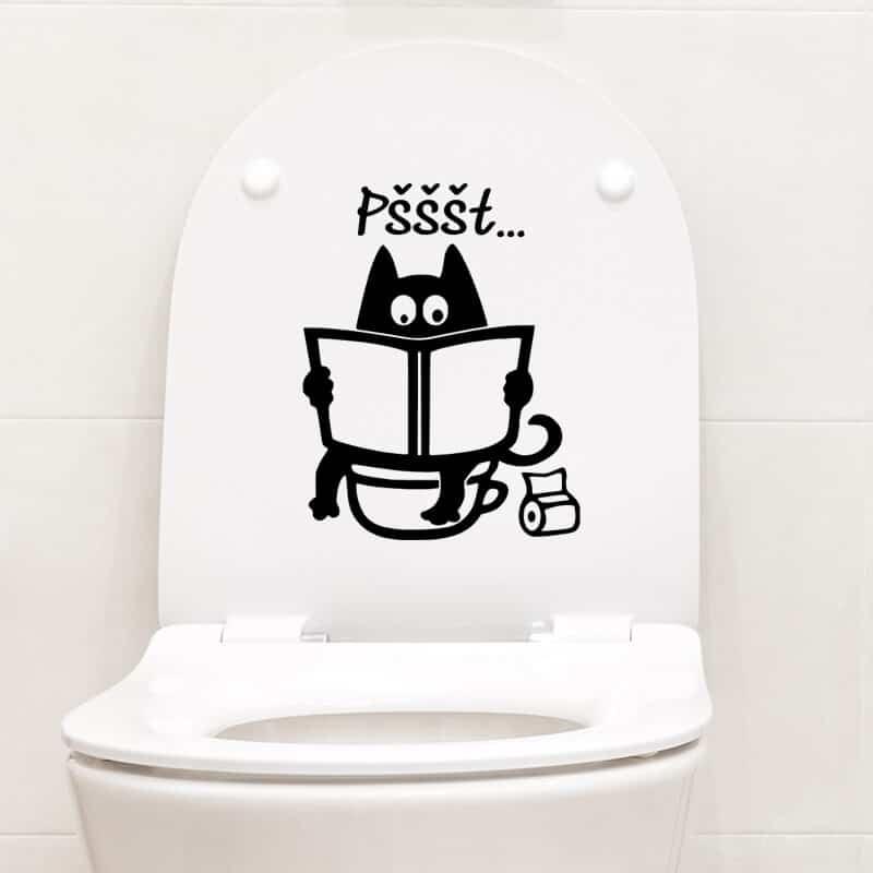 oznaka za wc pokrov mačka tiho