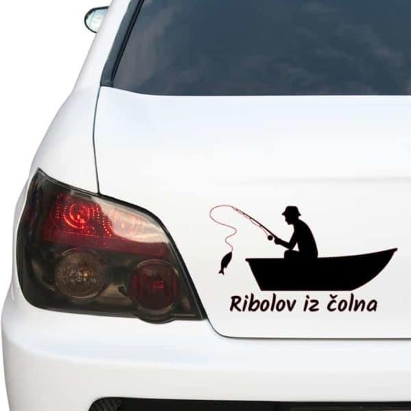 ribiška nalepka lov s čolna