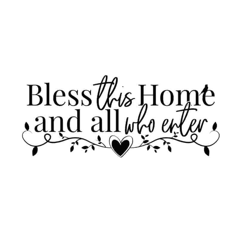 stenke nalepke bless home