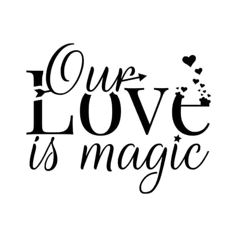 stenska nalepka LOVE is magic