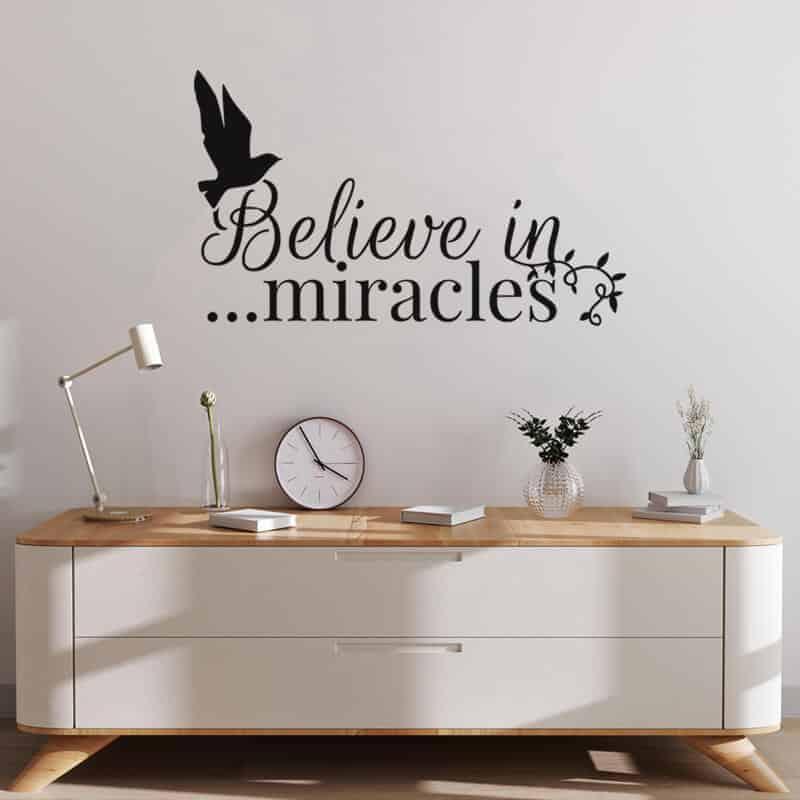 stenska nalepka believe in miracles