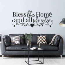 stenska nalepka bless this home