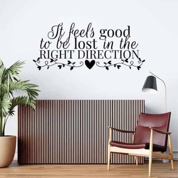 stenska nalepka dekorativna za steno feels good