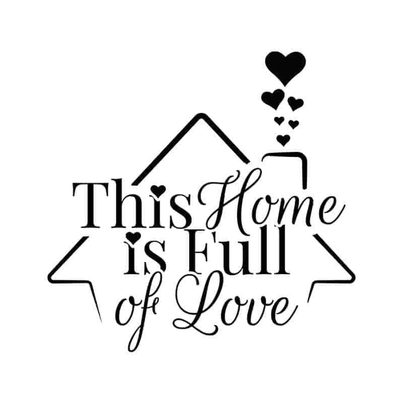stenska nalepka dom poln ljubezni