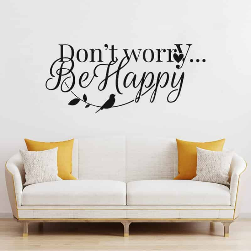 stenska nalepka dont worry be happy