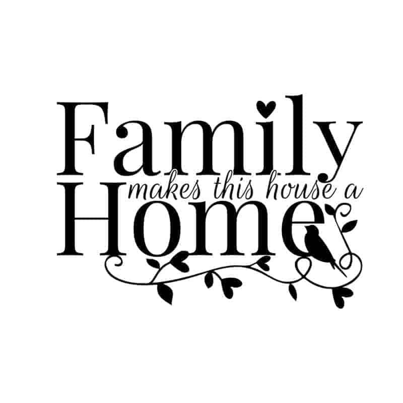 stenska nalepka family