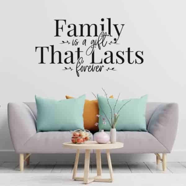 stenska nalepka family forever