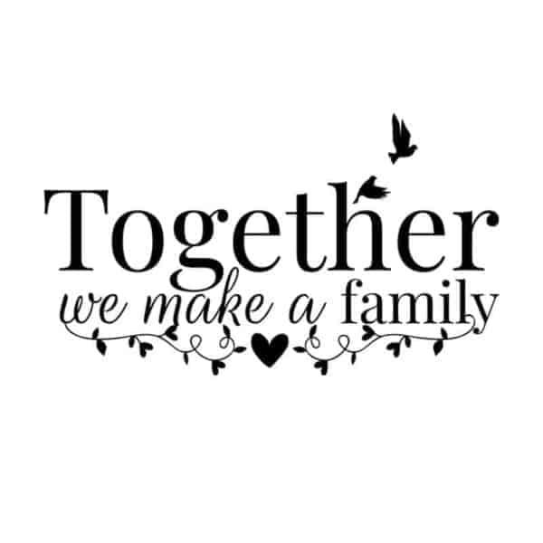 stenska nalepka family together