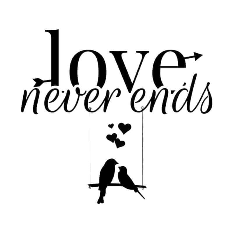stenska nalepka love never ends (1)