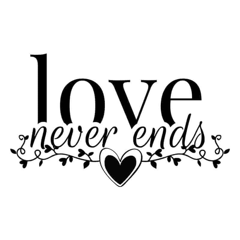 stenska nalepka love never ends