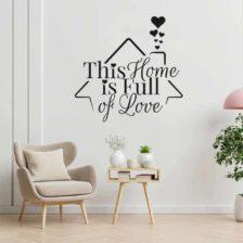 stenska nalepka this home is full of love