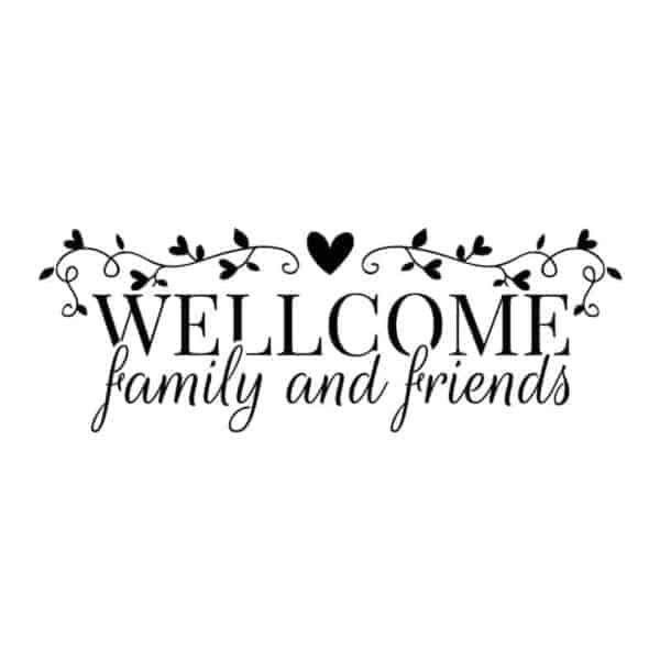 stenska nalepka welcome family
