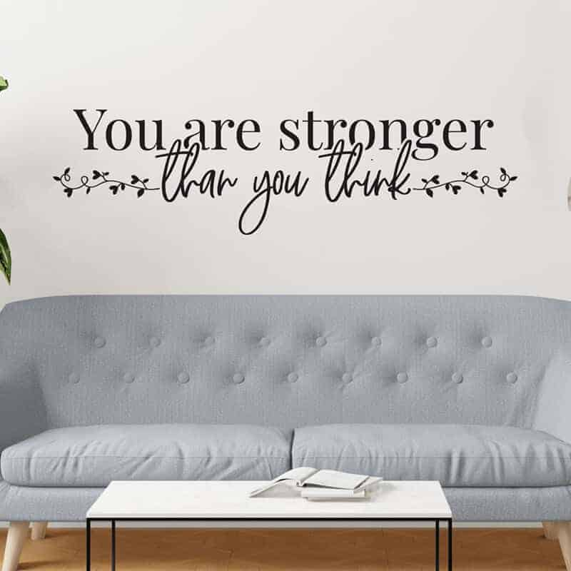 stenska nalepka you are stronger then you think