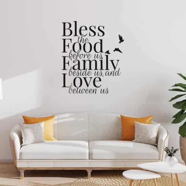 stenska nalepka za dnevno sobo family
