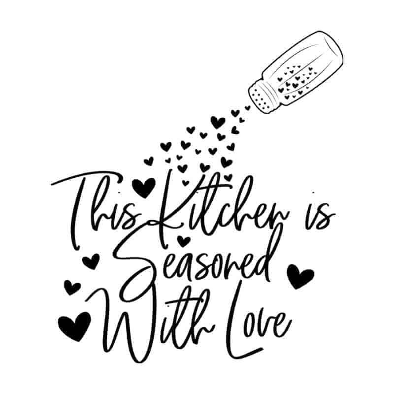 stenska nalepka za kuhinjo this kitchen is seasoned with love