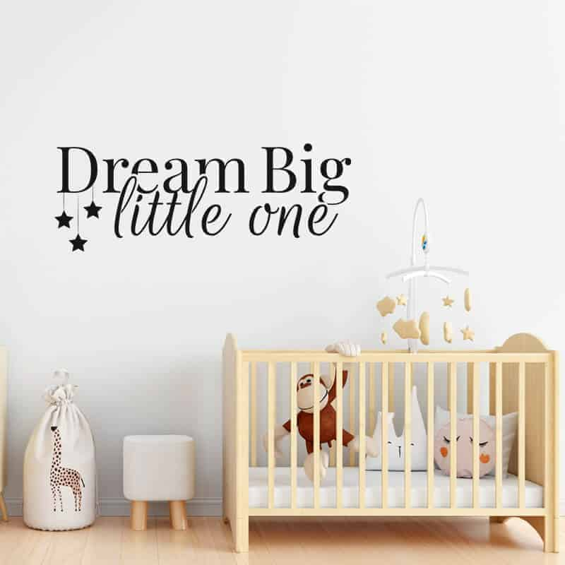 stenska nalepka za otroško sobo dream big