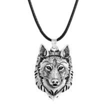 usnjena moška verižica volk