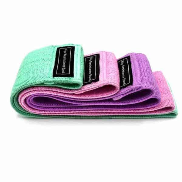 večbarvni set elastika za vadbo
