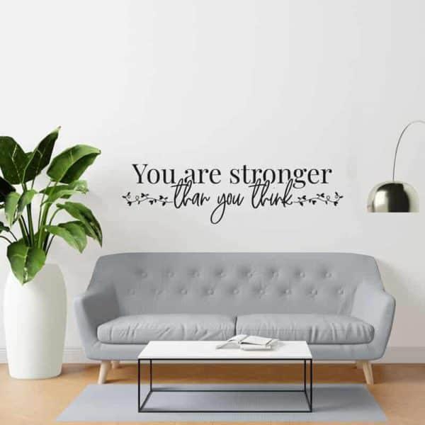 you are stronger stenska nalepka