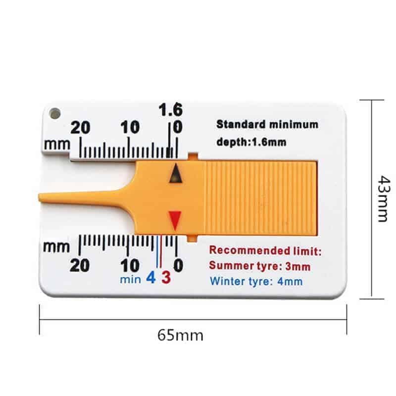 Ravnilo za preverjanje profila gum