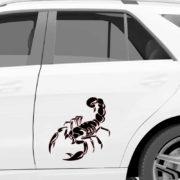 škorpijon avto nalepka