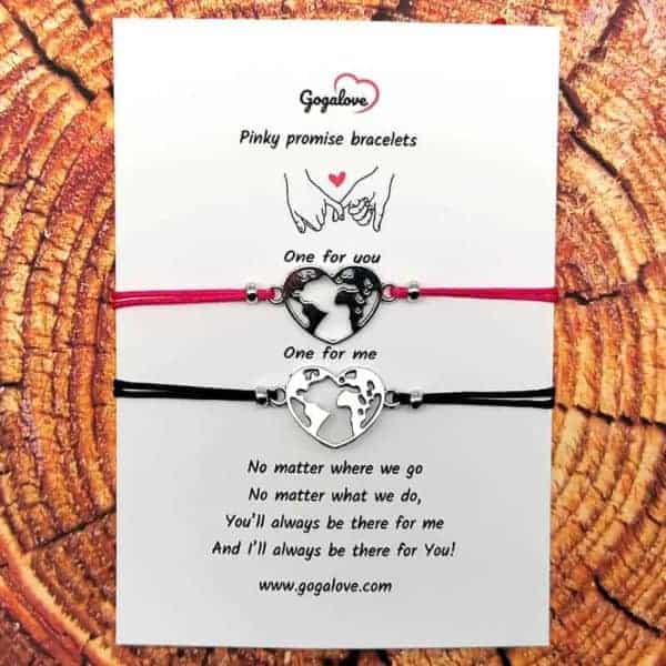 Zapestnica za zaljubljene pinky promise