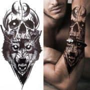 Neustrašni volk z lobanjo
