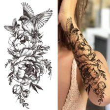 Tattoo za roko ptica in vrtnice