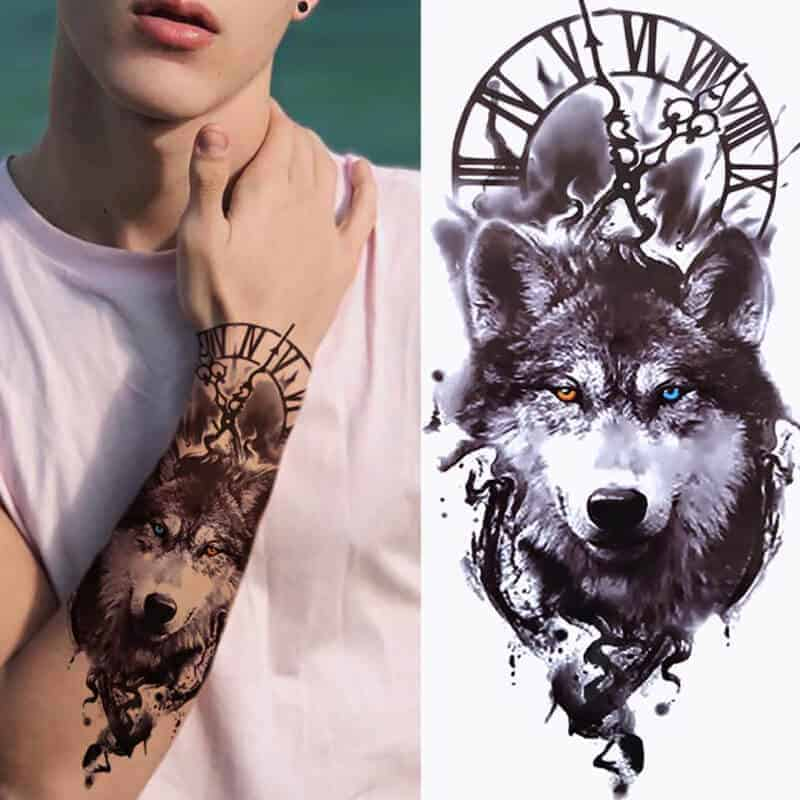 Volk s sporočilom moči in časa