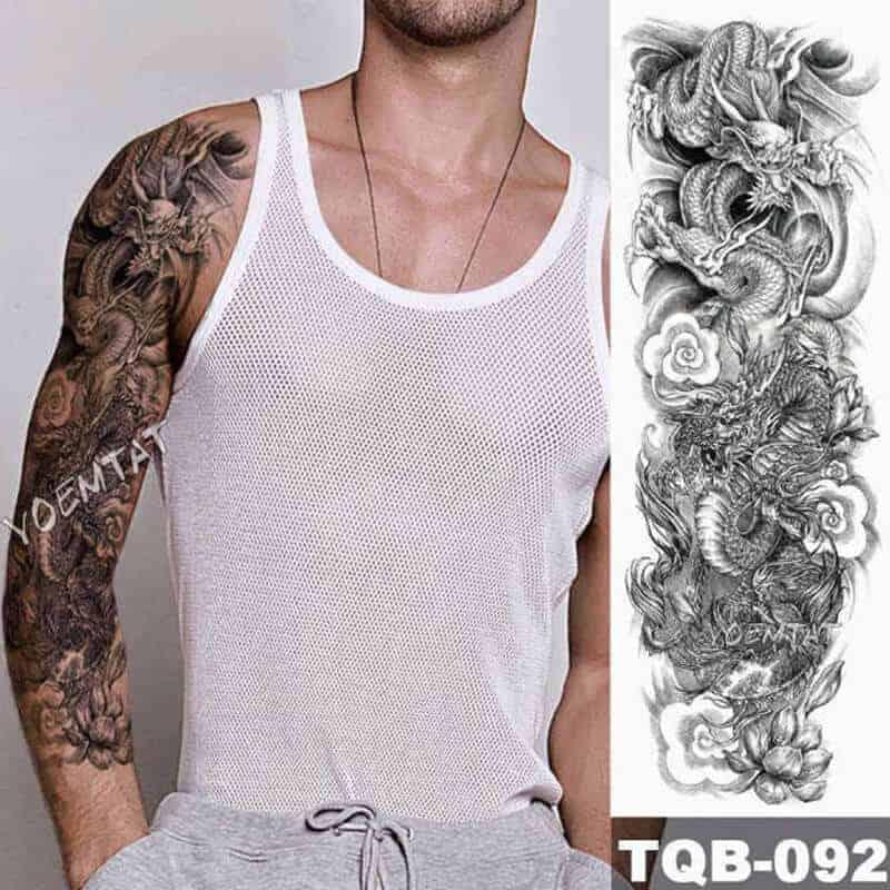 Začasni tattoo ZMAJ