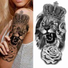 Začasni tattoo lev kralj