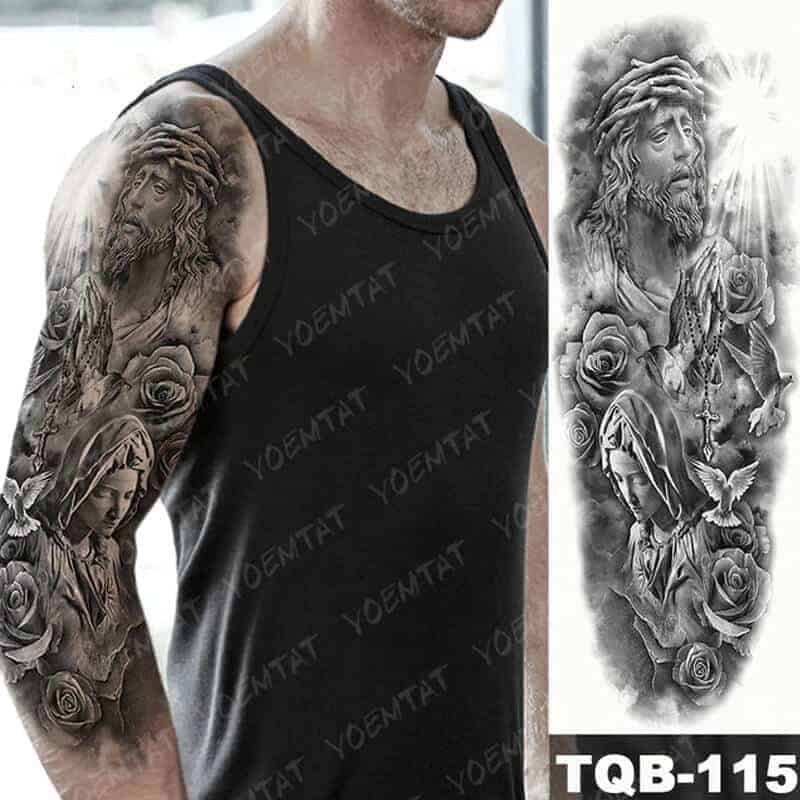 Začasni tattoo svoboda in vera