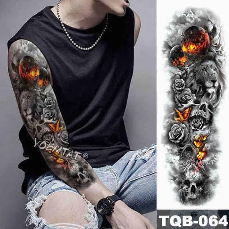 Začasni tattoo za celo roko STORY