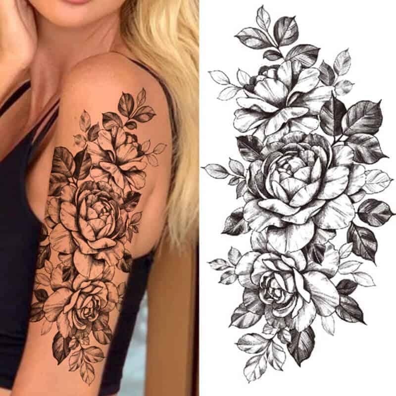 Ženski tattoo vrtnice
