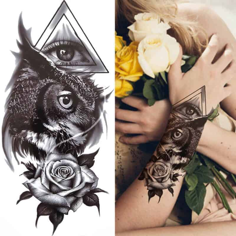 all seeing eye tattoo z vrtnico in sovo