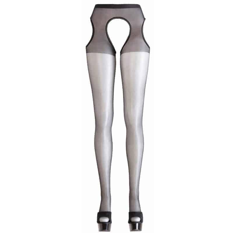 črne erotične nogavice z luknjo