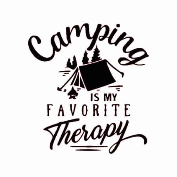 nalepka camping is my favorite therapy