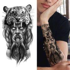 neustrašni bojevnik življenja začasni tattoo