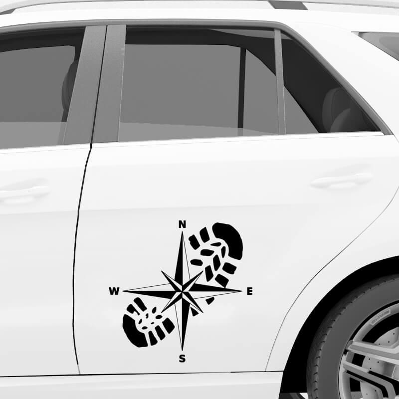 pohodništvo nalepka za avto