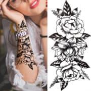tattoo vrtnice za roko