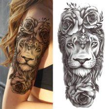 tattoo za roko lev
