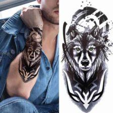 volk začasne tetovaže