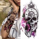 začasna tetovaža lobanja