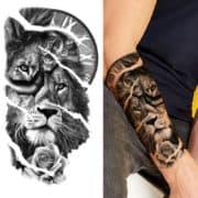 začasni tattoo lev kreator življenja