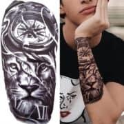 začasni tattoo lev s kompasom