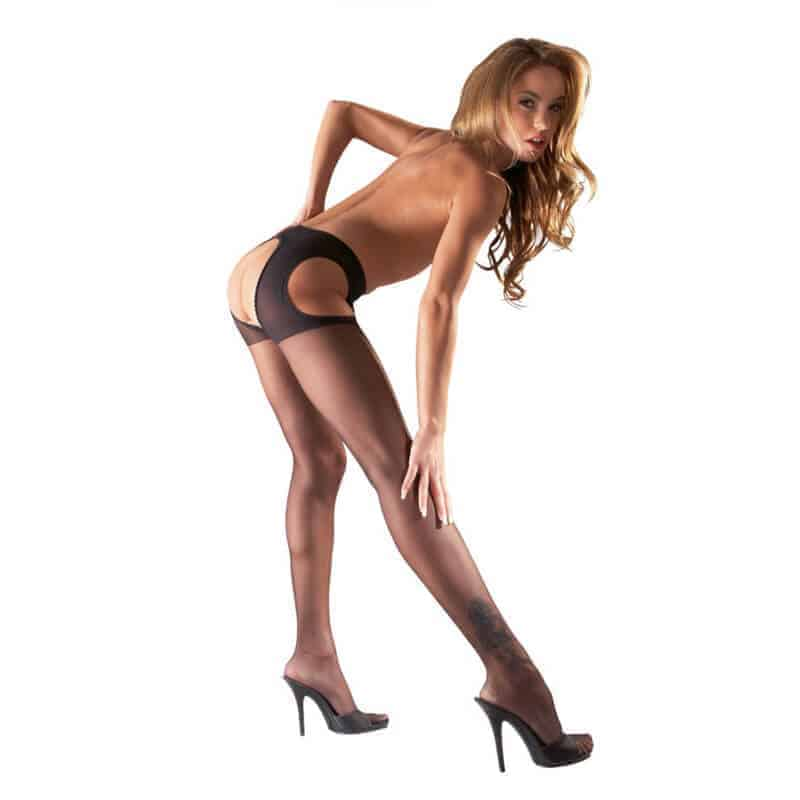 zapeljive erotične nogavice z luknjo
