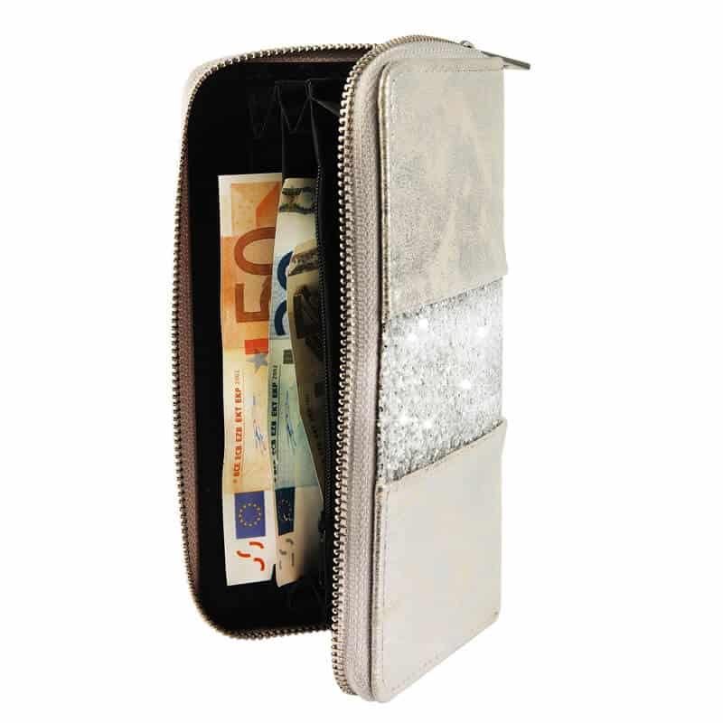Bleščeča ženska denarnica velikost