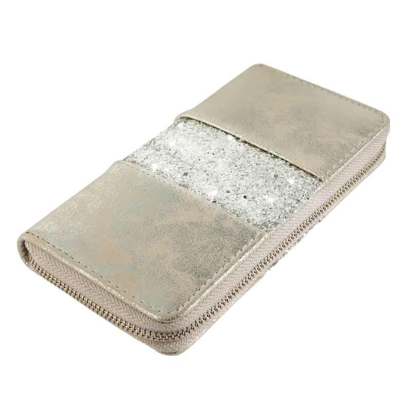 Bleščeča ženska denarnica zlata barva